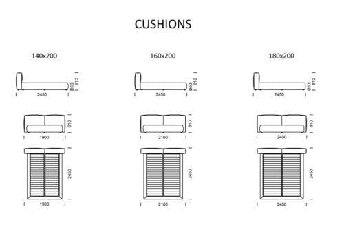 Nobonobo Cushions wymiary