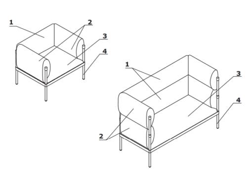 Stilt fotel elementy